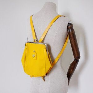 Piero Guidi yellow sbag backpack made in Italy